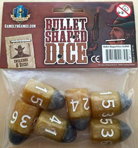 Custom Dice - Tiny Epic Western Themed Bullet Dice - Custom RPG Dice Set