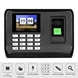 HFeng 2.4 inch TFT LCD Screen Intelligent Biometric Fingerprint Password Attendance Machine Employee Checking-in Recorder DC 5V Time Attendance Clock System