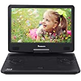NAVISKAUTO 14 Inch Blu-Ray Portable DVD Player Full HD 1080P with HDMI Output and Input, Dolby Audio, Built-in Rechargeable Battery, AUX Cable