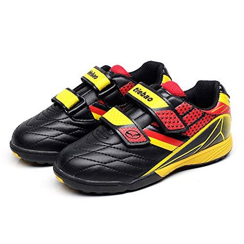 Tiebao Niños Clásico Bucle de Gancho Zapatos de Fútbol Profesional Zapatillas de Deporte Niños / Jóvenes Tamaño Amarillo-Negro Niño Pequeño 13135 EU31