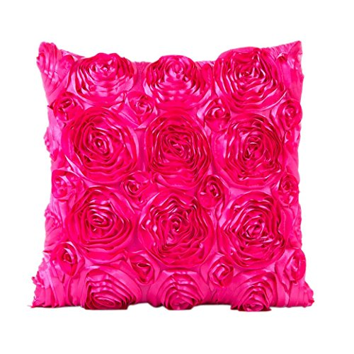 [TOOPOOT Pillowcase Sofa Waist Cushion Cover Home Decor (hot pink)] (Pillowcase Dress Costume)