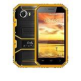 Unlocked Waterproof Shockproof Cellphone - 4.5 Inch 5MP+8MP Cameras 4G Smartphone 1GB RAM+8GB ROM Mobile Phone (Yellow, 4.5 inch)