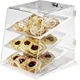 Carlisle SPD30007 Acrylic Three Tray Pastry Display Case with Back Door, 18'' Length x 14'' Width x 17-1/2'' Height, Clear