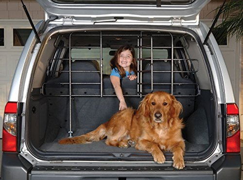 Hammertone Gray Steel Adjustable Vehicle Pet Barrier with Door Car Pet Barrier with Door, Vehicle...