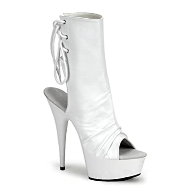 platform up White boots lace