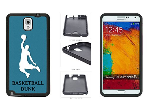 Player Silhouette TPU Rubber SILICONE Phone Case Back Cover For Samsung Galaxy Note III 3 N9002 comes with Security Tag and myPhone Designs(TM) Cleaning Cloth (Jordan Silhouette)