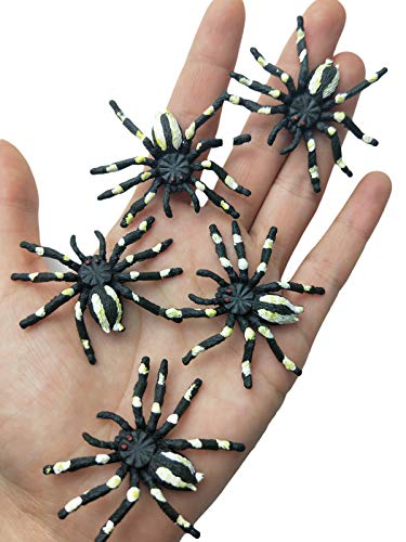 Muzboo Plastic Spider Halloween Toy,Scary Fake Flower Spider Prank Gag Gifts Trick Toys 20Pcs -