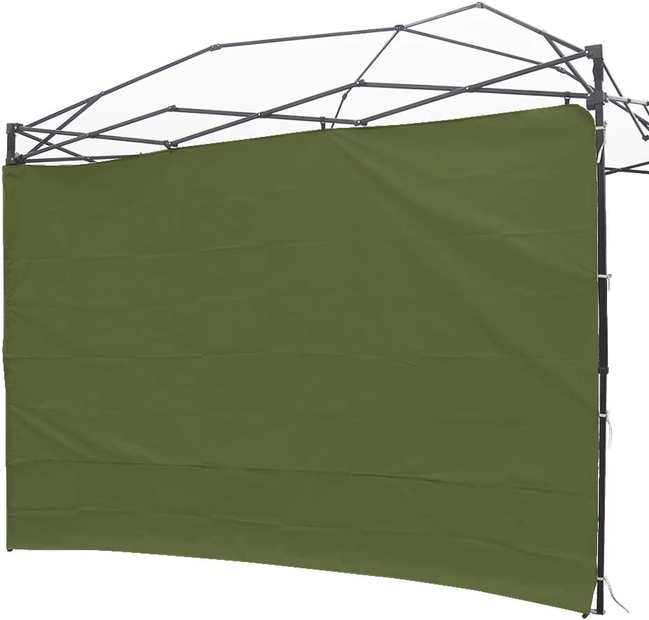NINAT Canopy Sunwall 10 ft Sunshade Privacy Panel for Gazebos Tent Waterproof, Sun Wall for Straight Leg Gazebos,1 Pack Sidewall Only,Green TIE