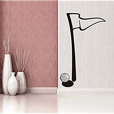 vbgdf Wall Sticker Golf Flag Minimalist Wall Sticker Golf Game Mode for Kids Room Vinyl Detachable Home Decor Accessories 36 59cm: Home & Kitchen
