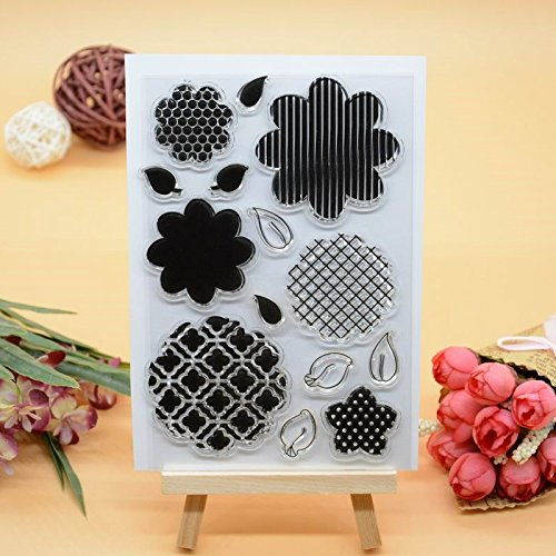 Joyful Home 1pc Flower Building DIY Rubber Clear Stamp for Card Making Decoration and Scrapbooking (7)