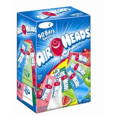 Airheads Variety - 90/.55 oz. bars - CASE PACK OF 4