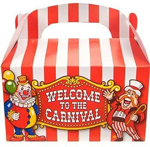 Red Circus Tent Favor Boxes Set of 15 in Two Sizes with Free Shipping