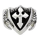 CloseoutWarehouse Dragon Shield Cross Ring Sterling Silver 925 Size 18