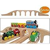 Wooden Brick 6 Arches Viaduct Bridge | Deluxe...