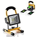 15W 24LED Waterproof Spotlights Work Lights Outdoor Camping Lights, Built-in Rechargeable Lithium Batteries & USB Ports to charge Mobile Devices With USB Ports to charge Mobile