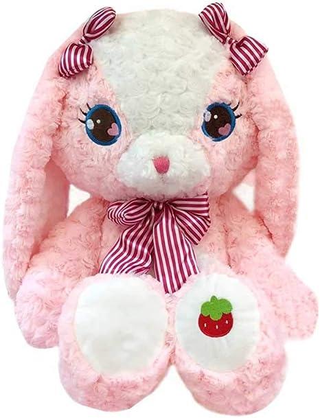 "Bek Bears Plush Lg Pink Ear Cream//white Colored Rabbit Stuffed Animal 40"" RARE"