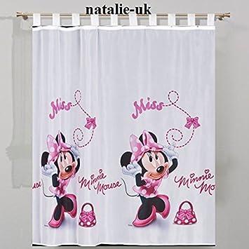 Disney minni in pink tenda con passanti cameretta in voile 150 cm ...