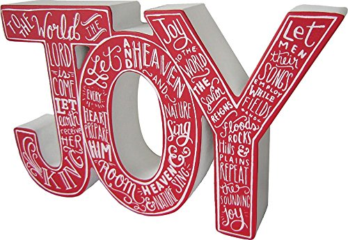 Primitives by Kathy Chalk Chunky Word Sign, Medium, Red