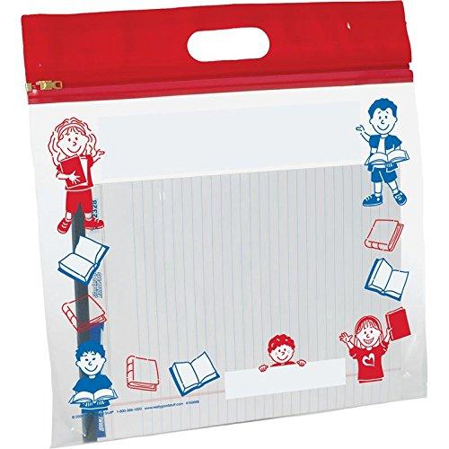 Really Good Stuff 12'' x 14'' Zipper-Shut Classroom Storage Bags by Really Good Stuff