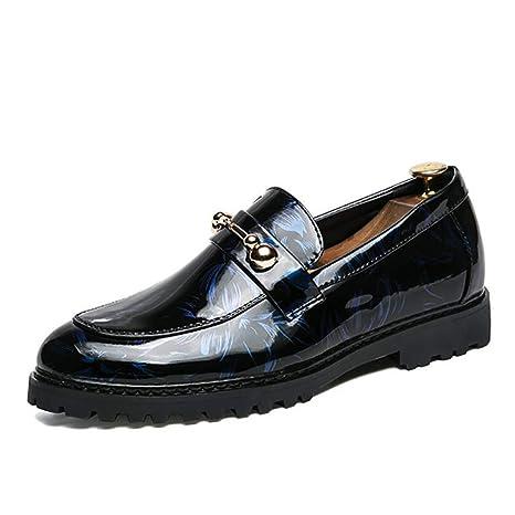 YaXuan Scarpe da uomo Pelle verniciata Mocassini eleganti Scarpe  formali Affari   50c1276d0a3