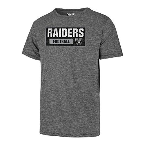 Mens New Oakland Shirt Raiders (NFL Oakland Raiders Men's OTS Triblend Distressed Tee, Vintage Grey, Medium)