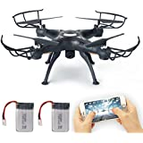 LAMASTON FPV Drone with Live Video Camera, X5SW-1 2.4G RC Quadcopter Kits, Phone APP Remote Control Drone Helicopter RC Airplane Toy with Bonus Battery