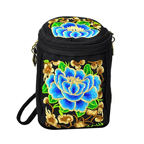 Canvas Bag Bag Shoulder Bags Cross Ethnic Graffiti Evening Flowers Style Abuyall Small Shoulder Strap Womens Bag Removable Phone Pt8 Clutch Bag Embroidered Body Retro FqRxWPWBwt