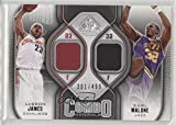 #7: Lebron James; Karl Malone #/499 (Basketball Card) 2009-10 SP Game Used - Combo Materials #CM-MJ