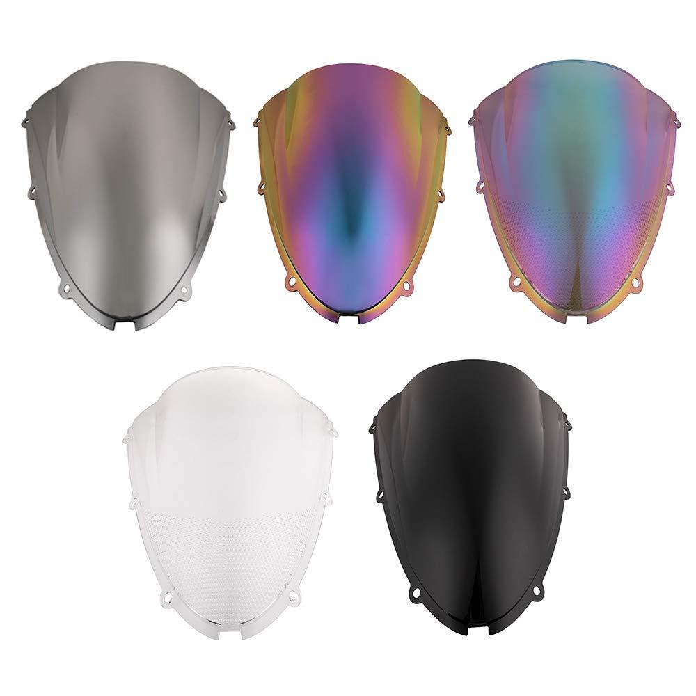 Nuevo protector de la pantalla del deflector del flujo de aire del parabrisas de la motocicleta para Kawasaki ZX6R 2005-2008 Negro