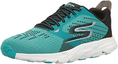 Skechers Performance Men's Go Run Ride 6 Running Shoe, Teal/Black, 11 M US