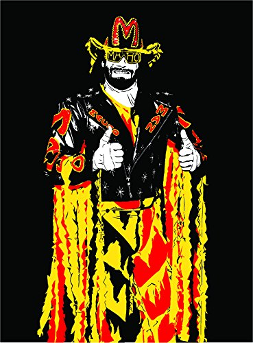 Macho Man Randy Savage Art Print - Legend of Wrestling - Multiple Sizes Available - Professional Wrestler Macho Man Randy Savage