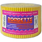 """Pacon Bordette Scalloped Decorative Borders - Rectangle with Scalloped Trim - 2.25"""" x 50ft - Paper - Yellow"""
