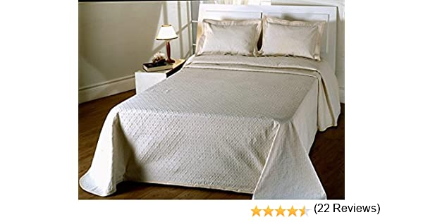 COLCHA FINA BEIGE fácil lavado. mod. Duda. Varias medidas. 250x270 (cama de 150 cm)