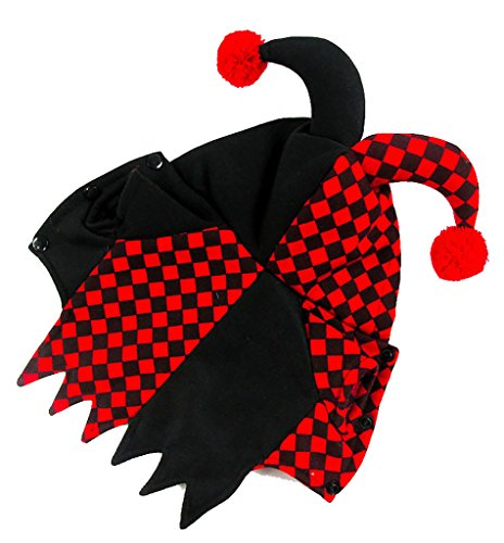 Costume Joker Pet The (Woo Woo Pets Joker Fesitival Party Fancy Dress Clothes Costumes Black and Red)