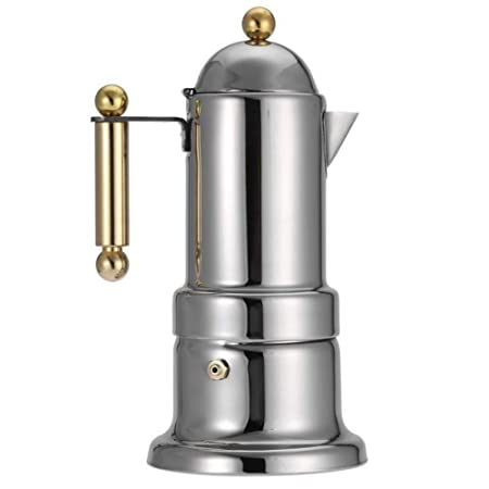 SJDY Cafetera 10x10x21cm Acero Inoxidable Moka Pot Stovetop ...
