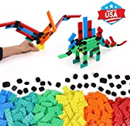 Bulk Dominoes Constructix Creative Explorer | Kinetic Dominoes Large PRO-Scale Stacking Building Toppling Chai