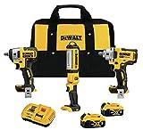 DEWALT 20V MAX XR Impact Wrench Combo Kit, 1/2-Inch