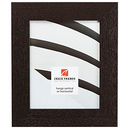- Craig Frames 80598967 5 by 7-Inch Picture Frame, Solid Oak, Heavy Wood Grain, 2-Inch Wide, Black Oak