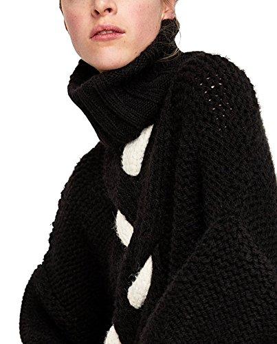 Zara Femme Pull à torsades en contraste 6771/004