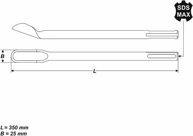 Kanalmeissel SDS-max 300x32mm