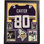 Chris Carter Signed Autographed Jersey Minnesota Vikings Framed JSA
