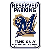 MLB Milwaukee Brewers 11-by-17 inch Sign