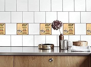 Küche Fliesen Aufkleber Kaffee an Vinyl Film für Badezimmer ...