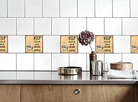 Kuche Fliesen Aufkleber Kaffee An Vinyl Film Fur Badezimmer Wand
