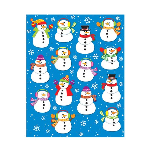 (CARSON DELLOSA SNOWMEN SHAPE STICKERS 84PK (Set of 12))