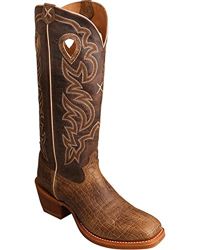 Brown Buckaroo Twisted Ee Square Boot 13 Toe X Men's Cowboy vxqwTH0
