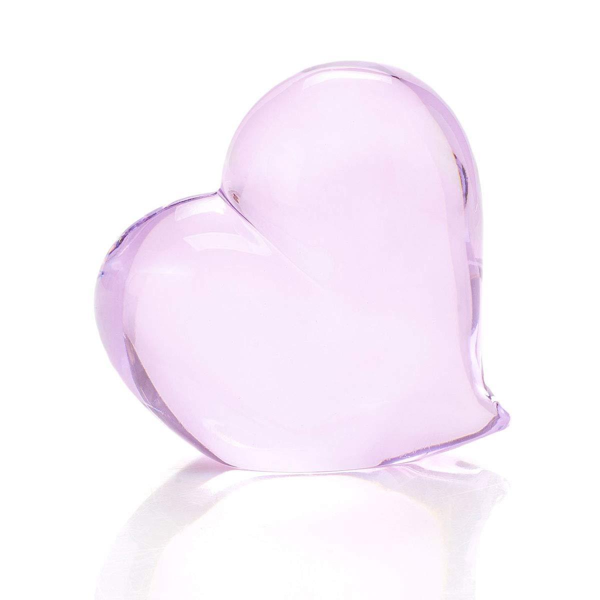 Waterford Crystal 4'' Tender Pink Heart Paperweight