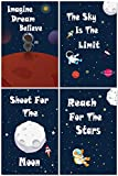 """art for kids rooms L & O Goods Space Posters for Boys & Girls Room 