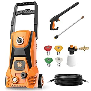 SUNPOW Electric Power Pressure Washer 2500 PSI 1.8 GPM High Pressure Washer Machine with 4 Nozzles,Detergent Tank and…