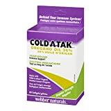 Webber Naturals Cold-Atak Oregano Oil, 36-Percent Carvacrol, 60-Count